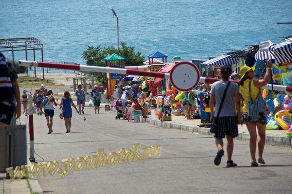Анапа спуск к пляжу 40 лет Победы