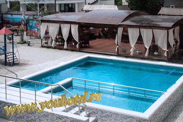 """Джемете гостевой дом """"Виктория"""" бассейн"""