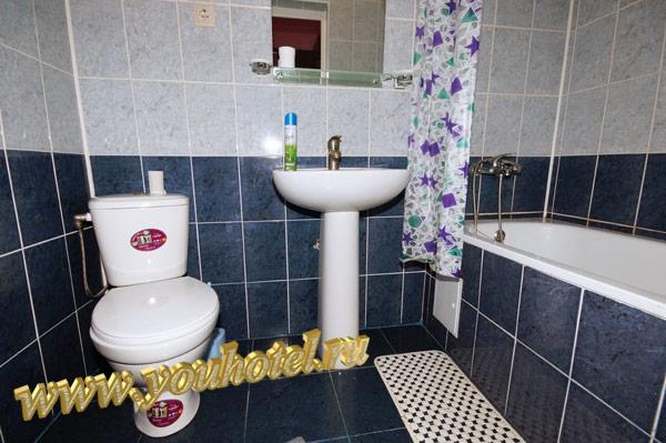 """Джемете гостевой дом """"Виктория"""" санузел с ванной в номере"""